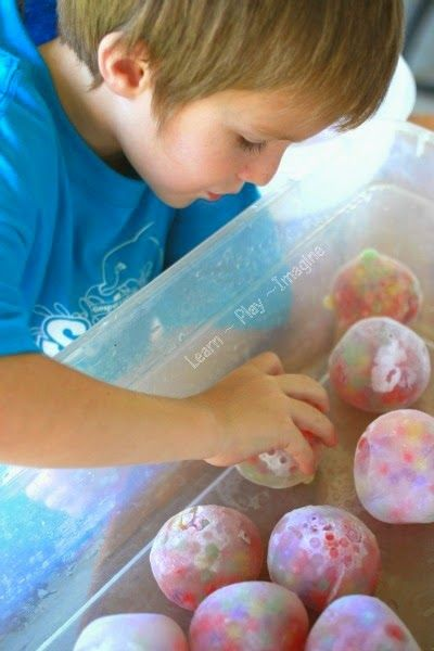Frozen water bead rocks for sensory and gross motor play- ok so this looks fun even for me!