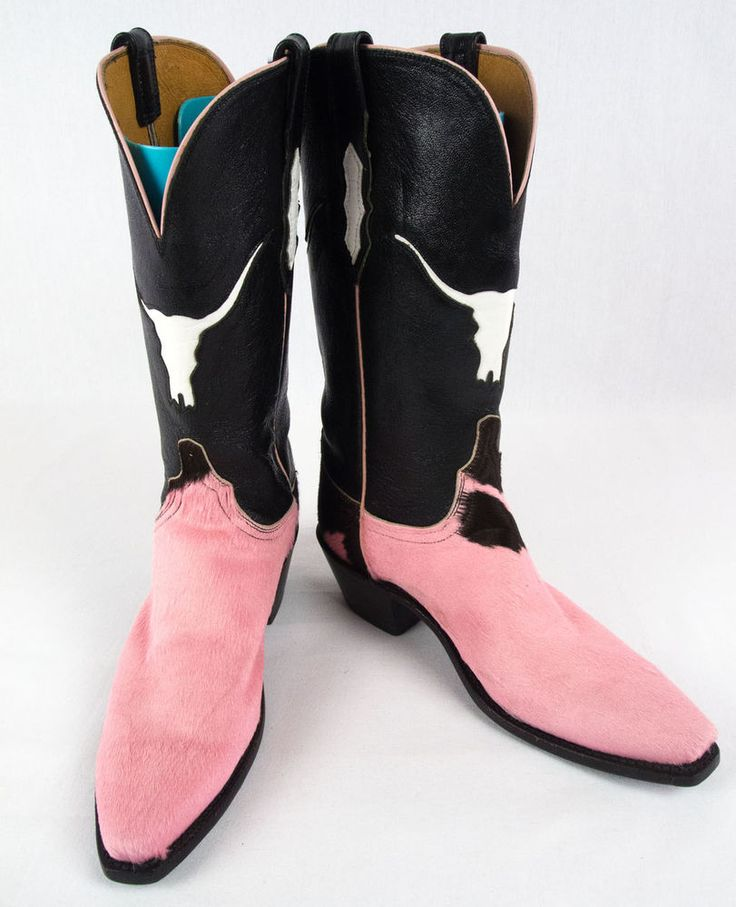 LUCCHESE 1883 Boots 8 M Cowgirl Western Leather Pink Hide 97966 Rare! #Lucchese #CowboyWestern