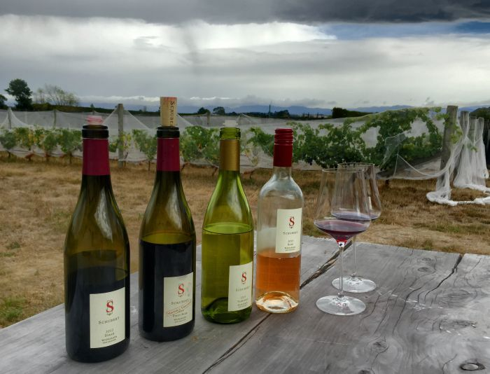 Wine tasting at Kai Schubert winery - great wines from a German winemaker in New Zealand!