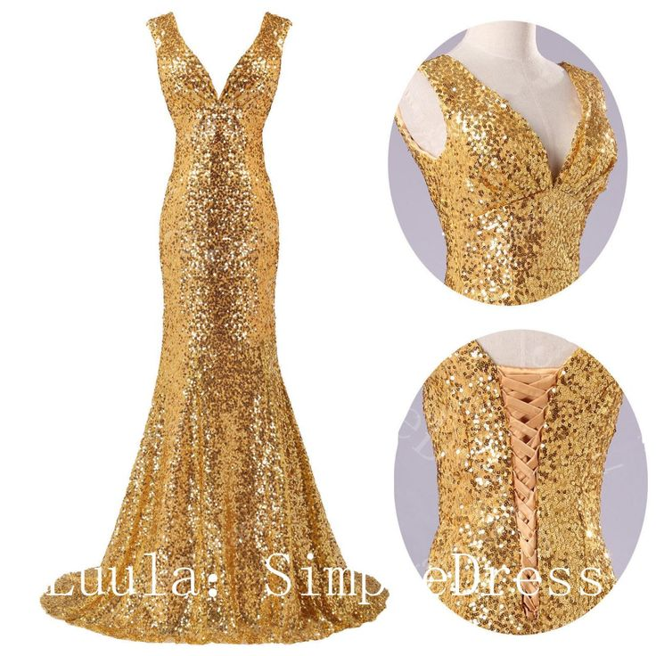 Fashion cheap plus size modest gold Prom Dresses