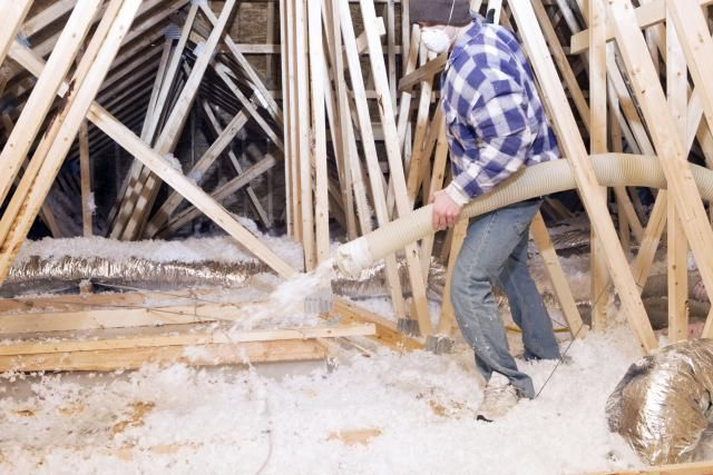 Is Blowing In Insulation Better Than Rolling Out Fiberglass?: Blowing In Attic Insulation