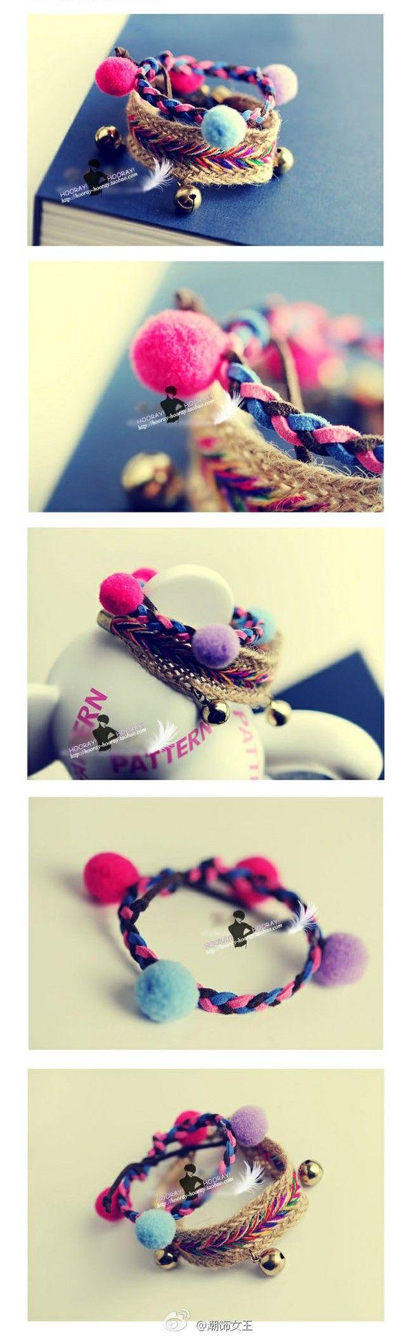 非常浓郁的民族风,麻绳混纺,明朗缤纷的色调,很有复古情怀 ~