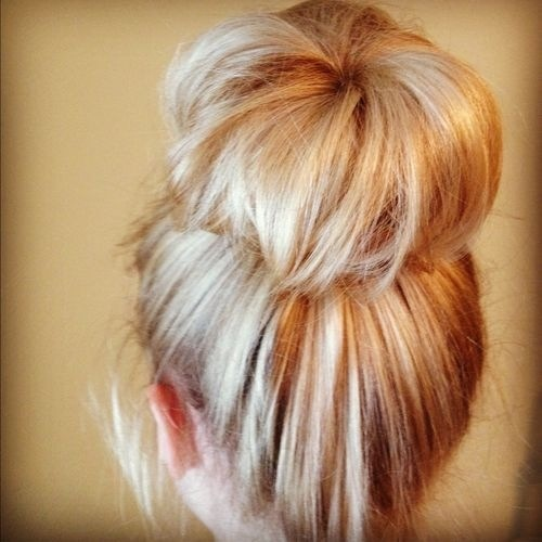 Huge sock bun.