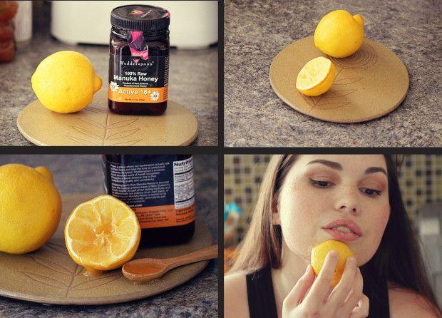 DIY lemon honey facial exfoliator