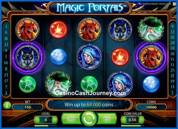Magic Portals is a 5 reel, 25 payline, Net Entertainment (NetEnt) Video Slot…