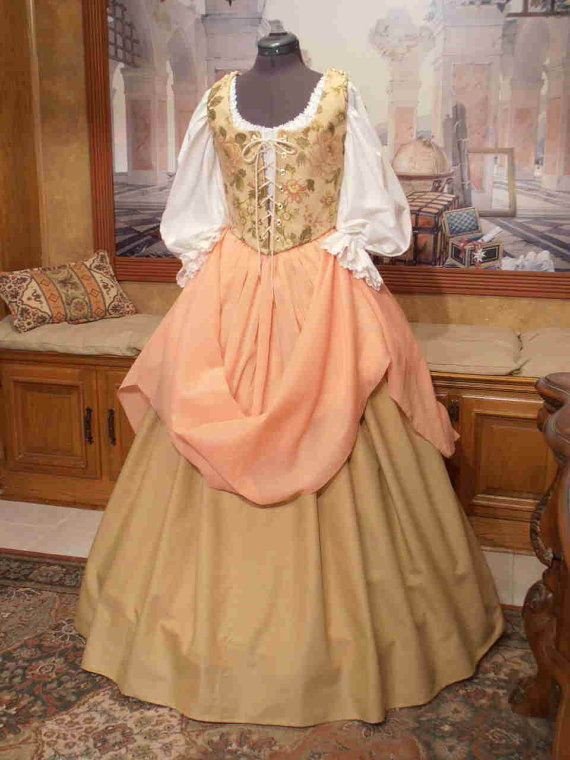 Renaissance Wench or Maiden Bodice and Skirt by fairefinery, $215.00