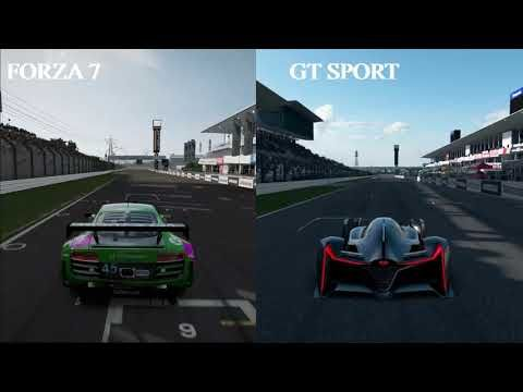 GT SPORT vs FORZA 7 - PS4 PRO vs XBOX ONE X - 4K Graphics Comparison #ps4 #xboxone #games #gaming