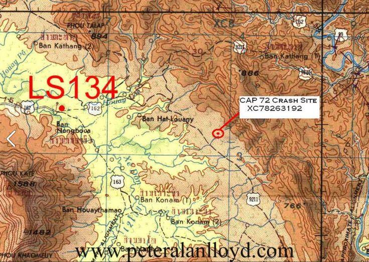 Mapa de ubicación de la zona donde cayó el avión en la jungla de Laos en la provincia de Sekong.
