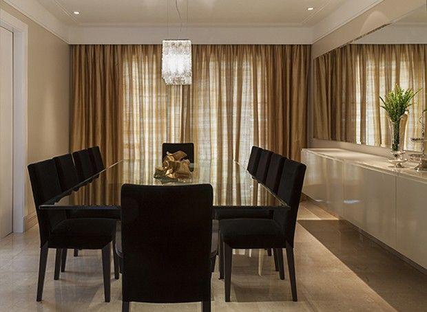 Decoração tradicional no apartamento de 600 m²