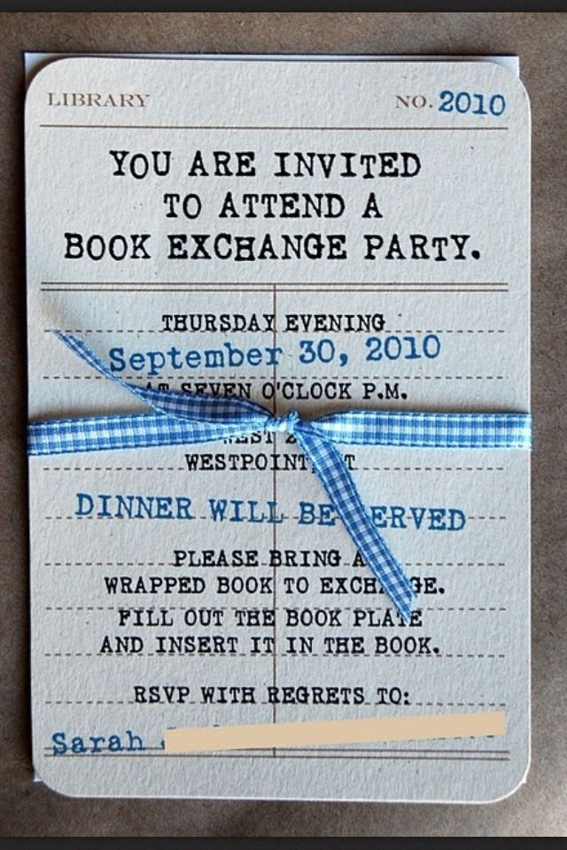 I Must Do This The Reading List Book Exchange Party Book Club