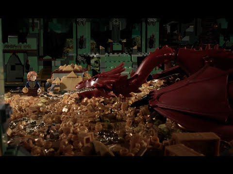 The Hobbit (The Whole Thing) Retold in 72 Seconds With LEGO [StopMotion Video]. THIS IS HYSTERICAL