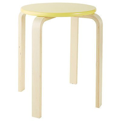 NEW Sven Stackable Wood Stool - Yellow