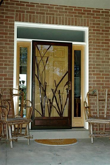 Such A Fun Take On Security Doors This Larson Cattail