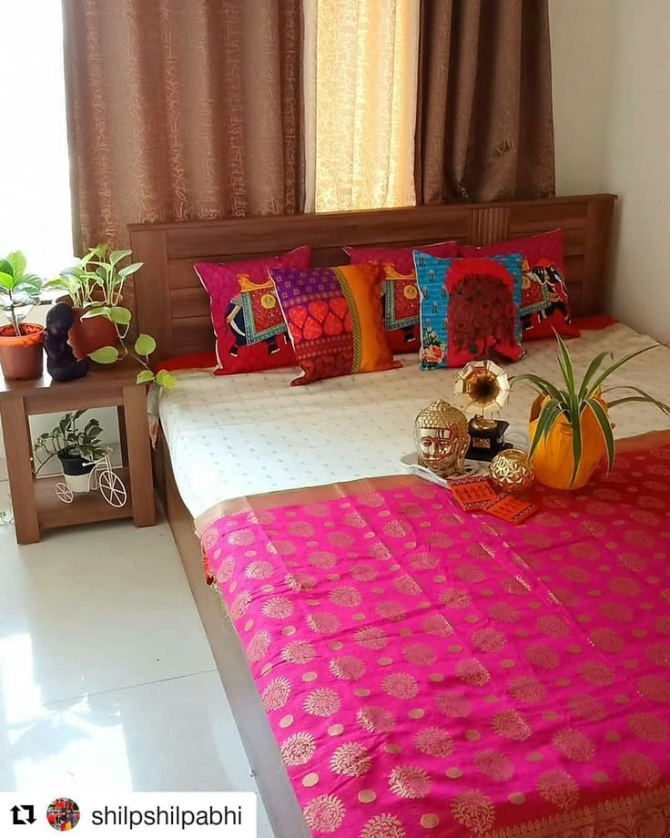 Pin by Nidhi Chakravorty on Int Decor Indian bedroom