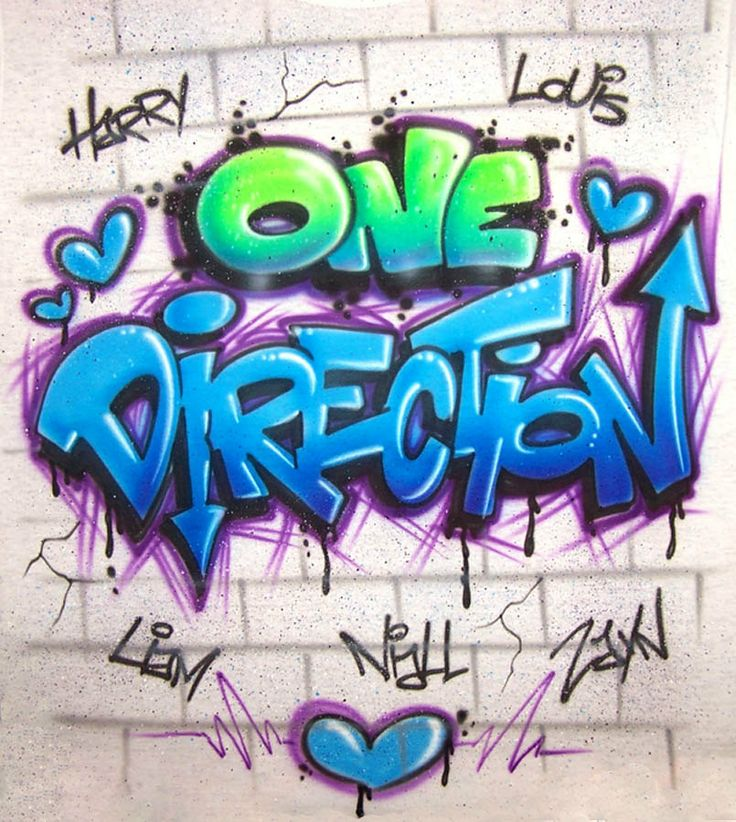 one direction airbrushed graffiti style custom by