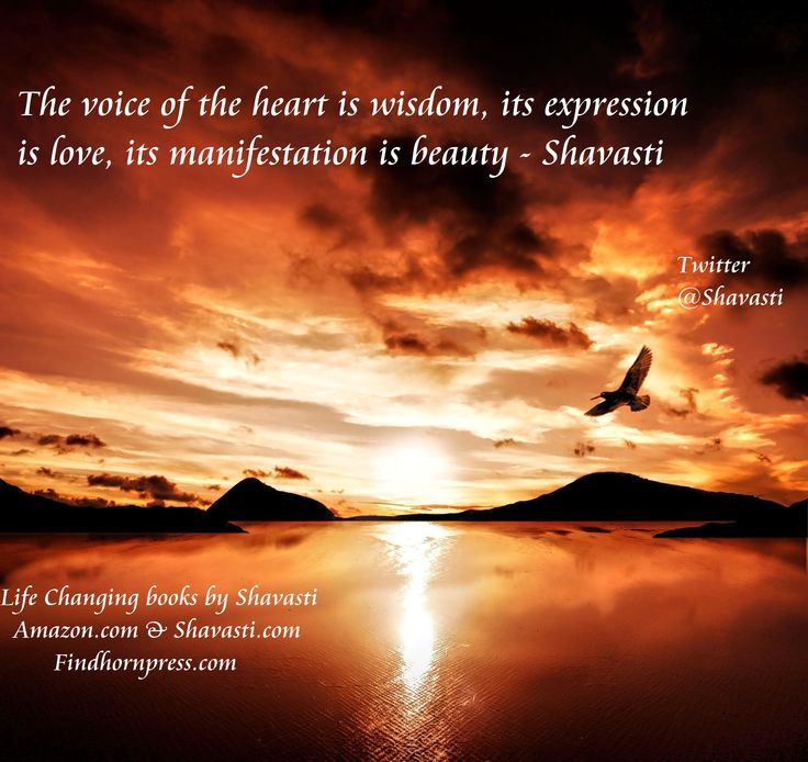 The voice of the heart......