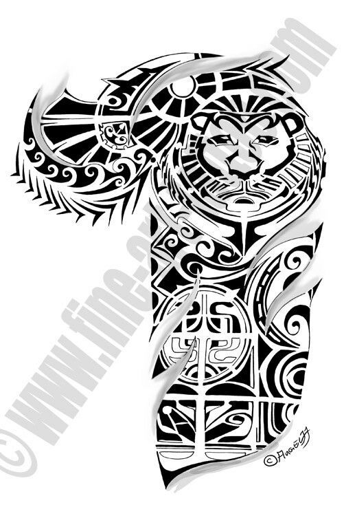 Souvent 36 best Maori Lion Tattoo Designs images on Pinterest | Lion  BG83