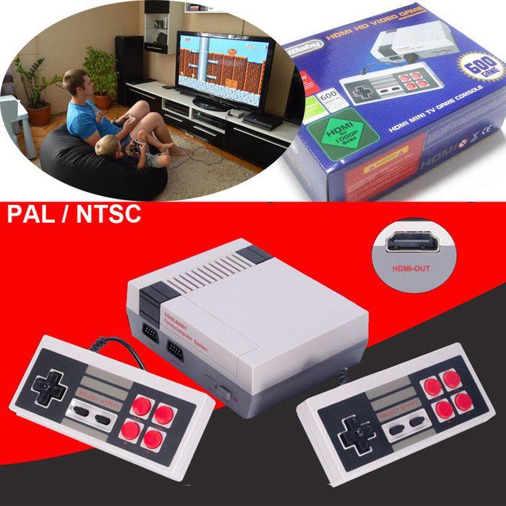 Classic TV Video Game Console 2 Childhood Built-in 600 Game for Mini NES AV HDMI #UnbrandedGeneric