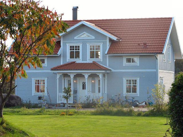blue scandinavian house