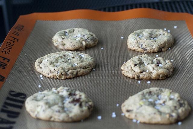 Dark Chocolate, Pistachio, and Sea Salt Cookies. Visit www ...