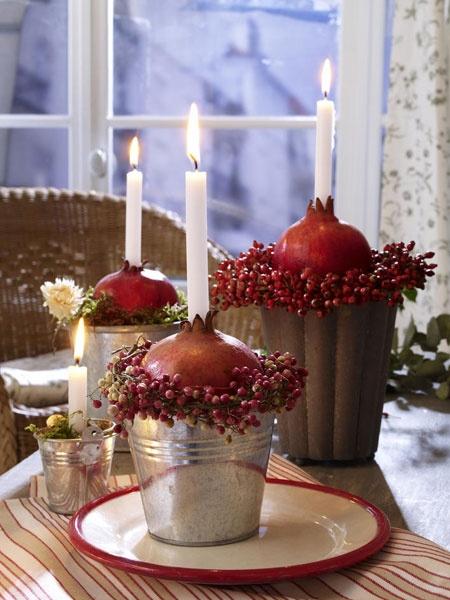 Granatenstarke Tischdeko mit Granatapfel! - Wohnidee.de