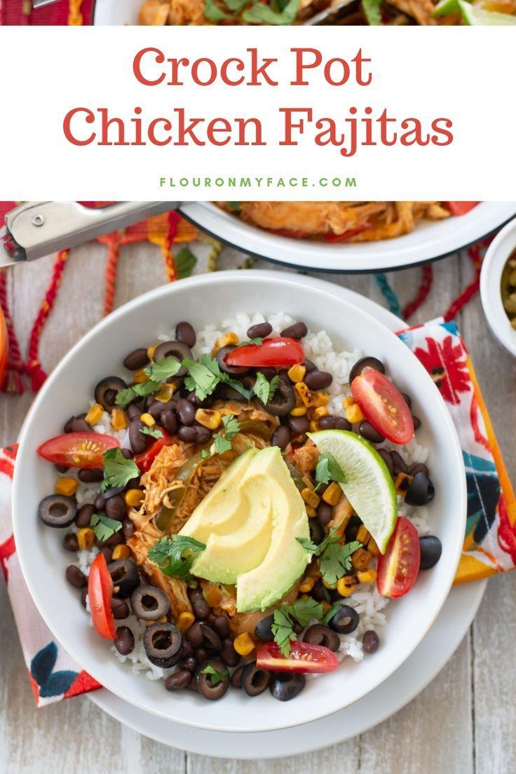 Easy Crock Pot Chicken Fajitas Recipe Fajita Recipe Chicken Fajita Recipe Fajitas