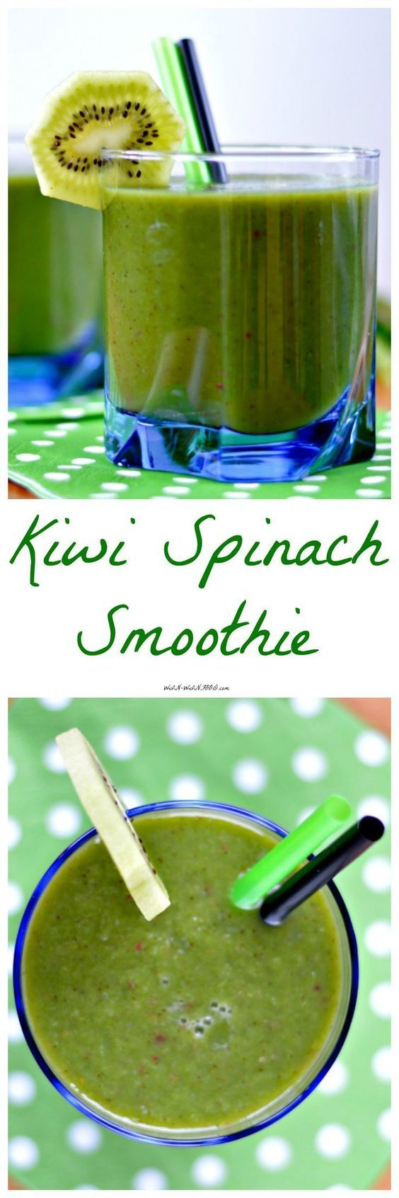 Kiwi Spinach Smoothie | WIN-WINFOOD.com The most refreshing breakfast ever!