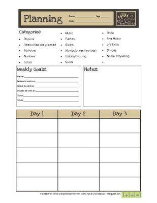 92 best preschool kinder assessments images on pinterest for Banes planning