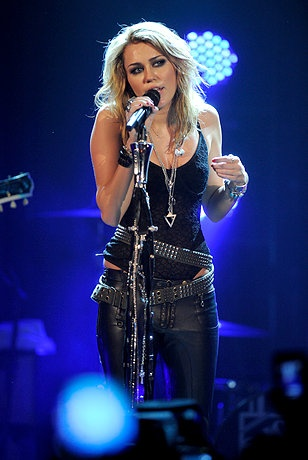 Singer Miley Cyrus performs during the MTV Live Stream concert held at the House of Blues on June 21, 2010 in Los Angeles, California.