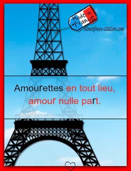 Amourettes en tout lieu,  Trouvez encore plus de citations et de dictons sur: http://www.atmosphere-citation.com/proverbe-francais-2/amourettes-en-tout-lieu.html?