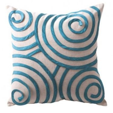 Peacock Hickory Swirl Cushion - Interiors Online.