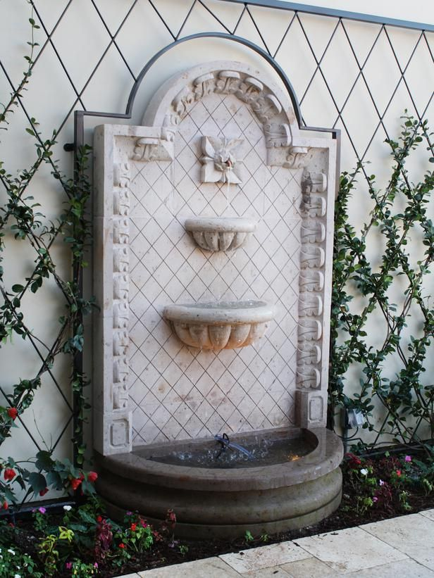 25 Best Ideas About Outdoor Wall Fountains On Pinterest