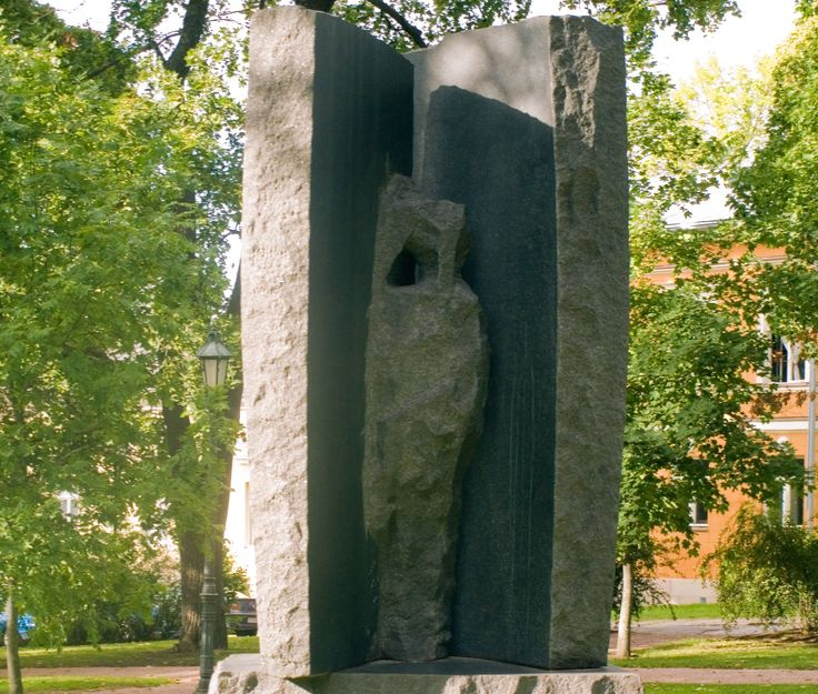 Monument to Adolf Ivar Arwidsson by Harry Kivijärvi, 1970. Adolf Iwar Arwidsson (1791–1858) tried to revive and boost the national spirit in the autonomous Finland in the beginning of the 19th century. He continued the work of Henrik Gabriel Porthan and was also an important collector and research worker of Finnish national poetry.