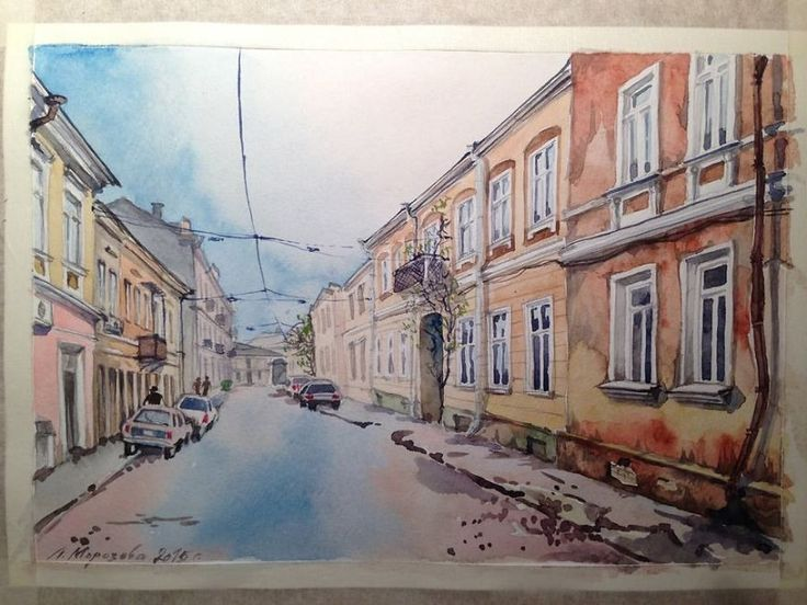 My Mom Paints Russia And Ukraine In Watercolors | Bored Panda