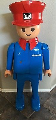 Rare 5Ft Playmobil Train Conductor Store Display Statue