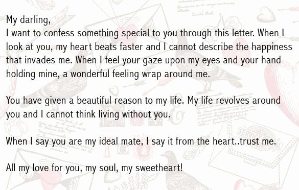 Love my letter a writing boyfriend to Writing a