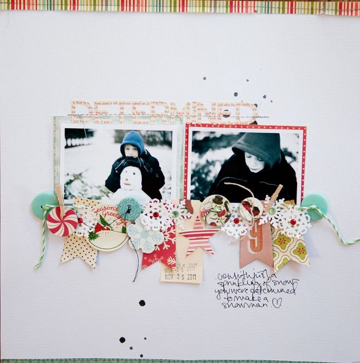 Marcy Penner for October Afternoon: Anchors, Idea, Scrapbook Kits, Holidays Style, Studios Calico, Marci Penner, Scrapbook Layout, Photo, Banners