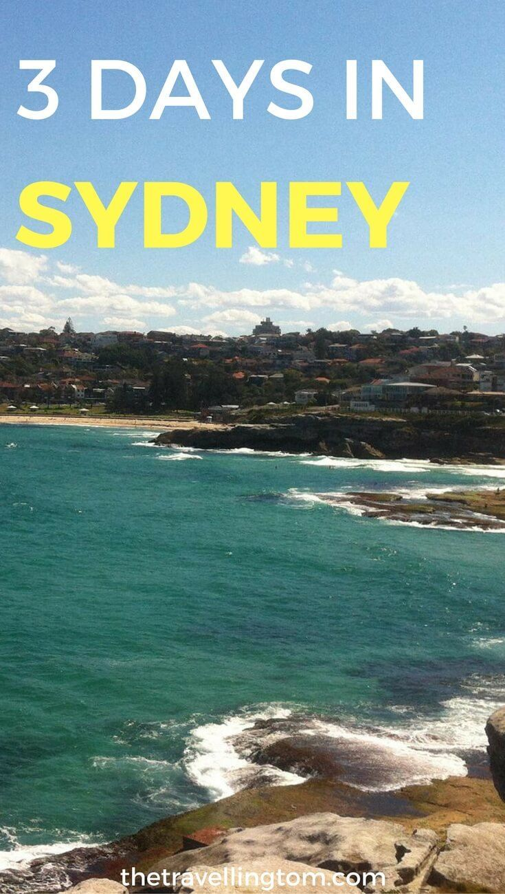 How to spend 3 days in Sydney. Visiting Sydney, but only have a few days? Check out my 3 days itinerary for Sydney to find out the best things to do in the city during a short stay!  3 days in Sydney Australia | visit Sydney | Sydney Australia | 3 days in Sydney Australia | things to do in Sydney | what to do in 3 days in Sydney | places to visit in Sydney | where to stay in Sydney #sydney #australia #thetravellingtom