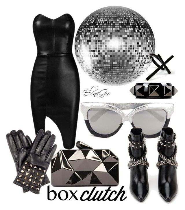 Cristal ball by elenagio on Polyvore featuring Posh Girl, Yves Saint Laurent, WithChic, Valentino, Emi Jewellery and Linda Farrow