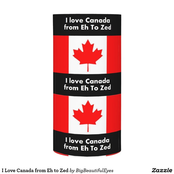 I Love Canada from Eh to Zed LED candle