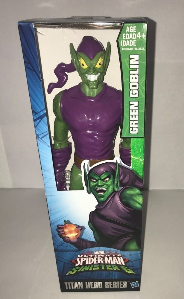 ULTIMATE SPIDER MAN SINISTER 6 TITAN HERO SERIES GREEN GOBLIN #Hasbro