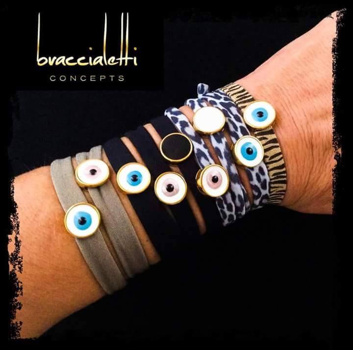 stone bracelets by #braccialetticoncepts #evileye #bracelets #stylish #fun