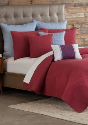 Home Accents  Casual Living Mandala Nantucket Red Quilt