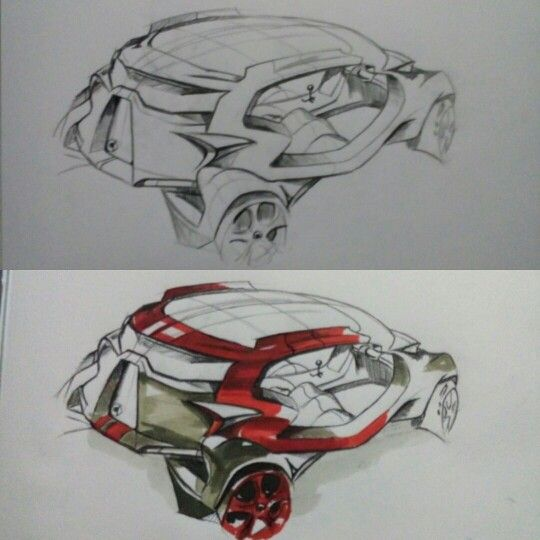 Sketch cardesign Sangwon Seok