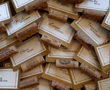 Cork Table Place cards!