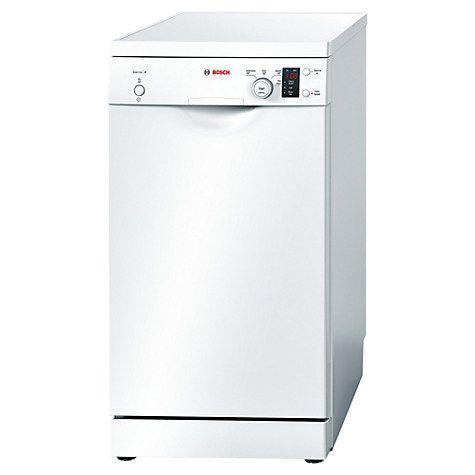 Buy Bosch SPS40E12GB Freestanding Slimline Dishwasher, White Online at johnlewis.com