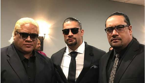 RIP Rosey - Roman Reigns and Rikishi from Rosey's funeral