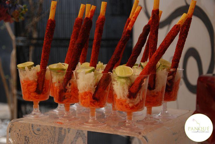 Barra de fruta y verdura para fiestas.