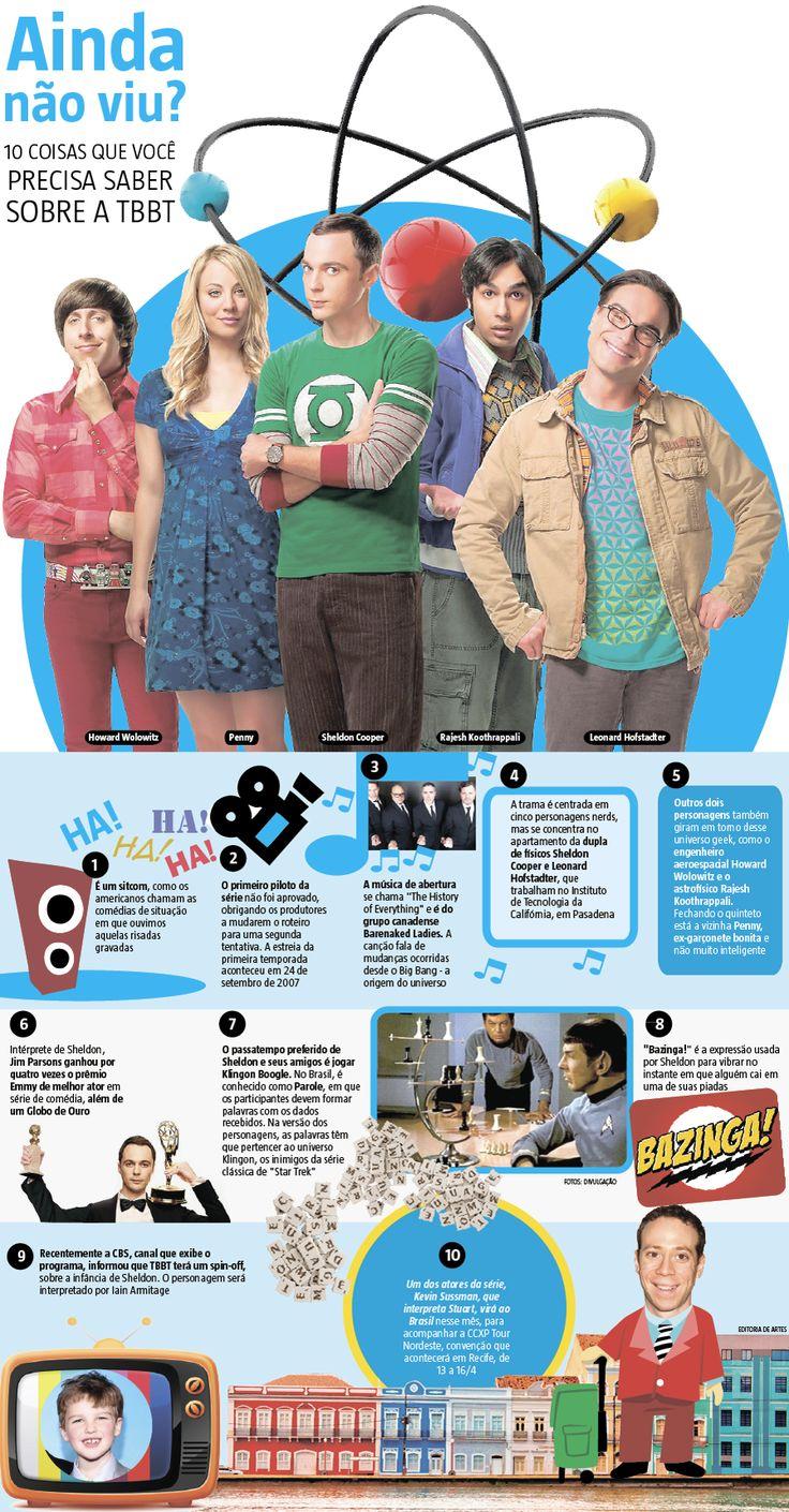 """Pelo menos na tevê, ciência nunca foi levada muito a sério. Até surgir """"The Big Bang Theory"""", que está indo para a 11ª temporada já com anúncio de mais dois anos no ar como um dos programas mais cool da tela. Mais que isso: é o seriado mais assistido da televisão norte-americana, com média de 20 milhões de espectadores por semana (03/04/2017) #TheBigBangTheory #Serie #Seriado #Audiência #Ciência #BigBang #BigBangTheory #Infográfico #Infografia #HojeEmDia"""