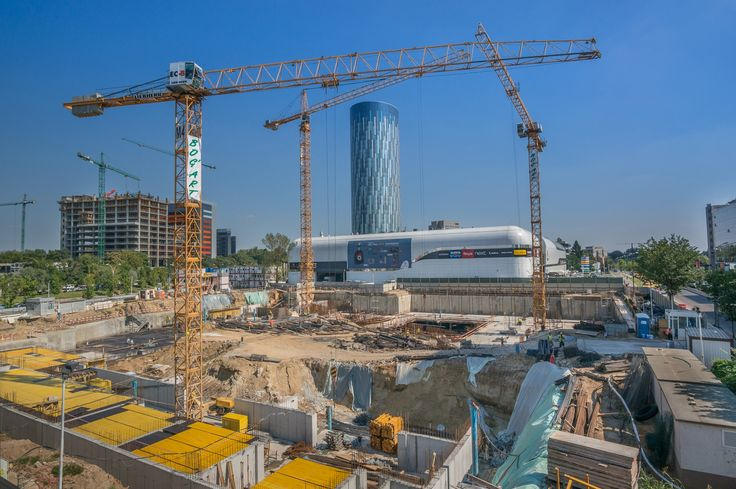 Bucharest, August, 19, 2014 -  construction site near Skytower B by Mihai O on 500px